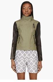 MACKAGE Olive Greeb & Leather Andra Jacket for women