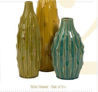 Soto Vases - Set of 3 >
