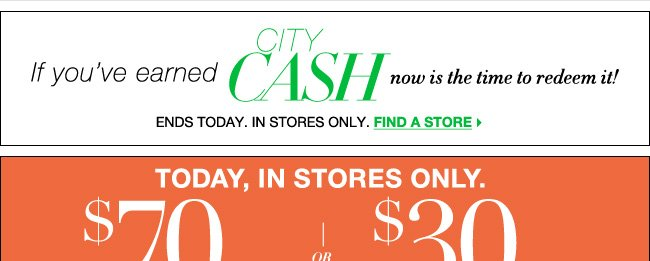 Redeem Your City Cash or Save $70 with Coupon!