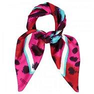 KENZO - Leopard print silk twill scarf