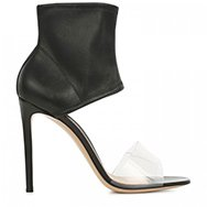 GIANVITO ROSSI - Perspex and leather cuff sandals