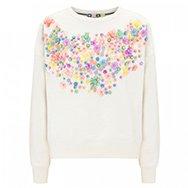 MSGM - Embellished cotton sweatshirt