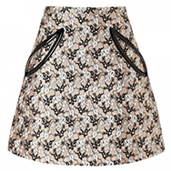 CHRISTOPHER KANE - Plasma jacquard silk and cotton skirt