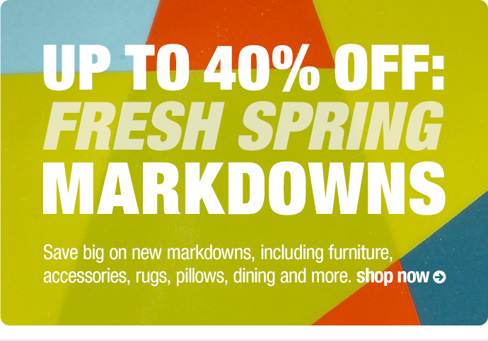 Fresh Spring Markdowns