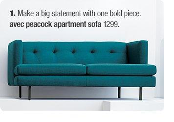 avec peacock apartment sofa