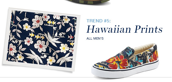 MEN'S HAWAIIAN PRINT