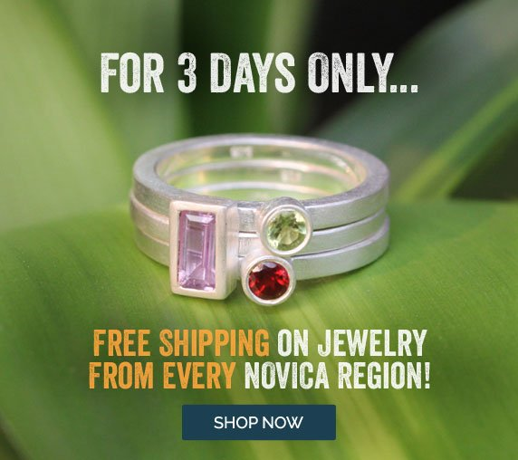 For 3 Days Only... Free Shipping On Jewelry From Every Novica Region! Shop Now