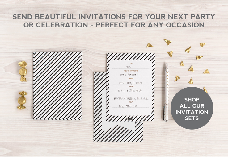 SEND BEAUTIFUL INVITATIONS TO YOUR NEXT PARTY OR CELEBRATION - PERFECT FOR ANY OCCASION.  SHOP ALL OUR INVITATION SETS