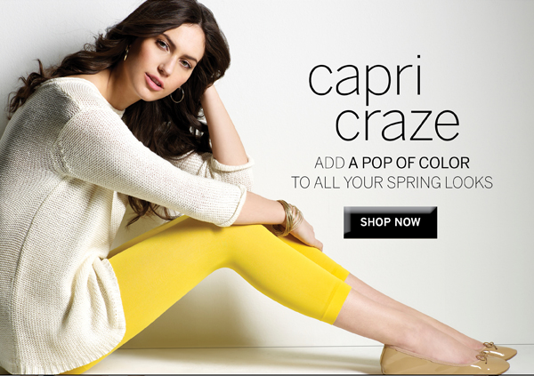 Add a pop of color to your Spring wardrobe with Capris in new spring colors.