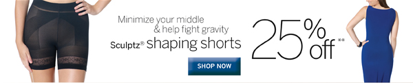 Minimize your middle and fight gravity with Sculptz Shaping Shorts