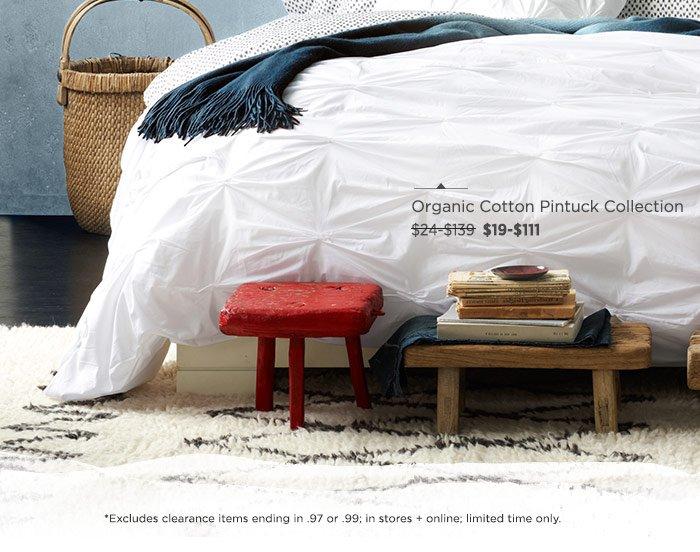 Organic Cotton Pintuck Collection.
