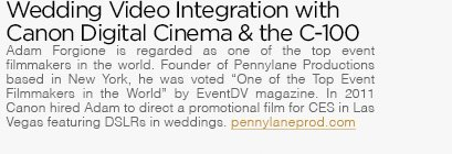 Wedding Video Integration with Canon Cinema