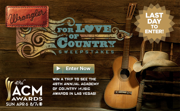 Wrangler For Love of Country Sweepstakes