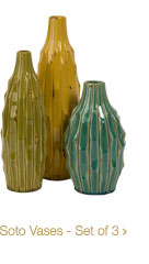 Soto Vases - Set of 3 >