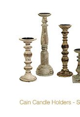 Cain Candle Holders - Set of 5 >