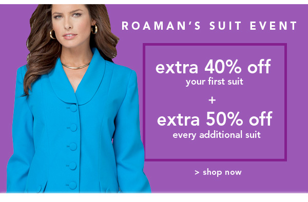 Shop Roaman's Suit Event