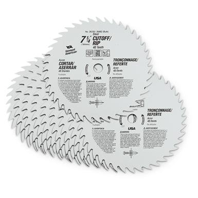 "10-Pk. of Vermont American® 7 1/4"" 40-tooth Circular Saw Blades"