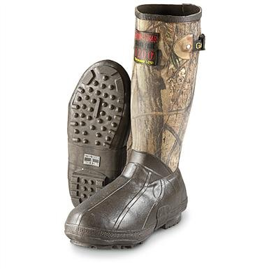 Men's Guide Gear® Waterproof 1,200 gram Thinsulate™ Ultra Insulation Canvas Top Rubber Boots, Realtree AP®