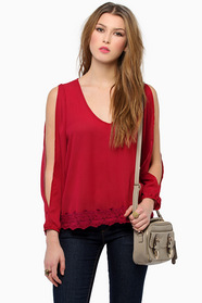 Trimmed Avenues Blouse $37