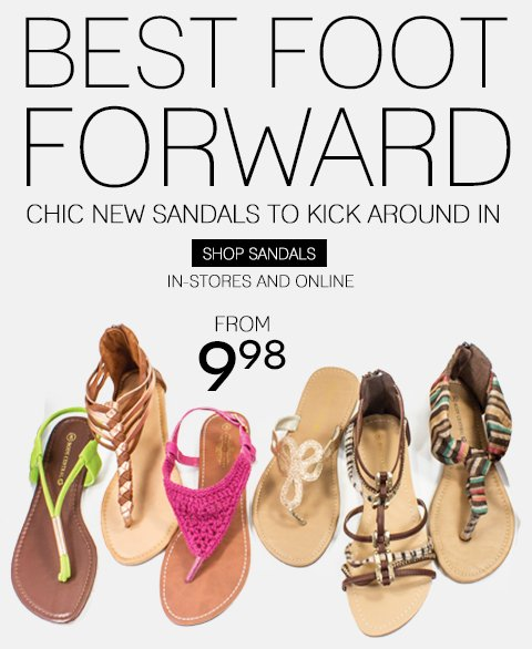 Pedi-Ready Spring Sandals - Shop In-Store & Online