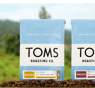 With every bag of coffee you purchase, TOMS will give one week of clean water to a person in need. One for One.™