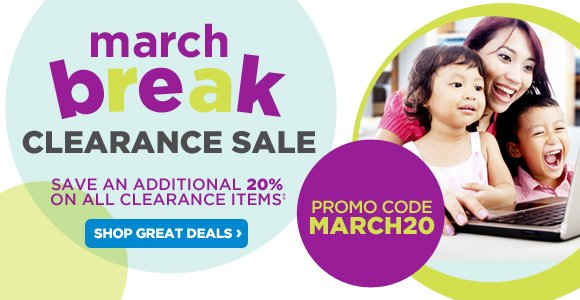March Break Clearance Sale