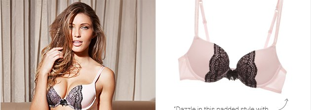 Dazzle in the padded style with double spaghetti straps