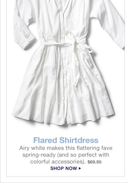 Flared Shirtdress | SHOP NOW