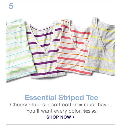 5 Essential Striped Tee | SHOP NOW