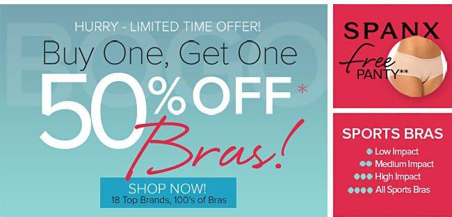 50% Off Bras - See Details