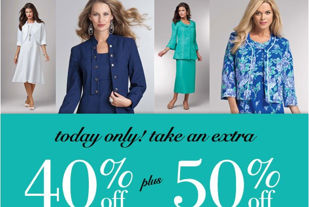 Today Only! 40% off your first suit, Plus 50% off all additional suits from special collection! Use RDSUITS