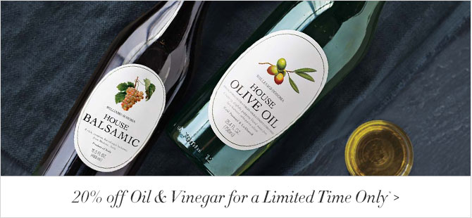 20% off Oil & Vinegar for a Limited Time Only*