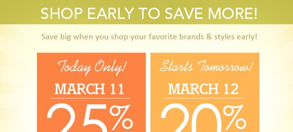 25% Off - Today Only!