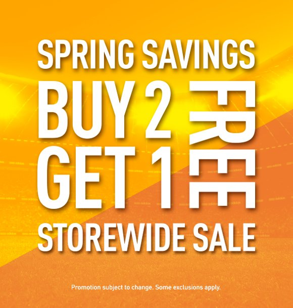 Spring Savings Buy 2 Get 1 Free Storewide Sale, Promotion subject to change. Some exclusions apply