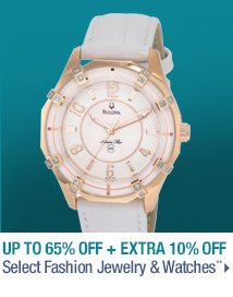 Up to 65% off + Extra 10% off Select Fashion Jewelry & Watches**