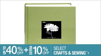 Up to 40% off + Extra 10% off Select Crafts & Sewings**