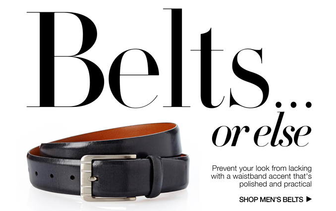 Shop Belts - Men
