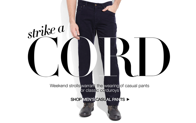 Shop Cords & Casual Pants - Men