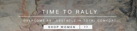 TIME TO RALLY. SHOP WOMEN