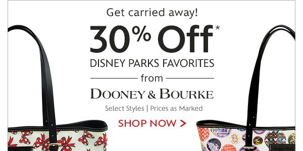 Get carried away! 30% Off Disney Parks Favorites from Dooney and Bourke - Select Styles | Prices as Marked | Shop Now