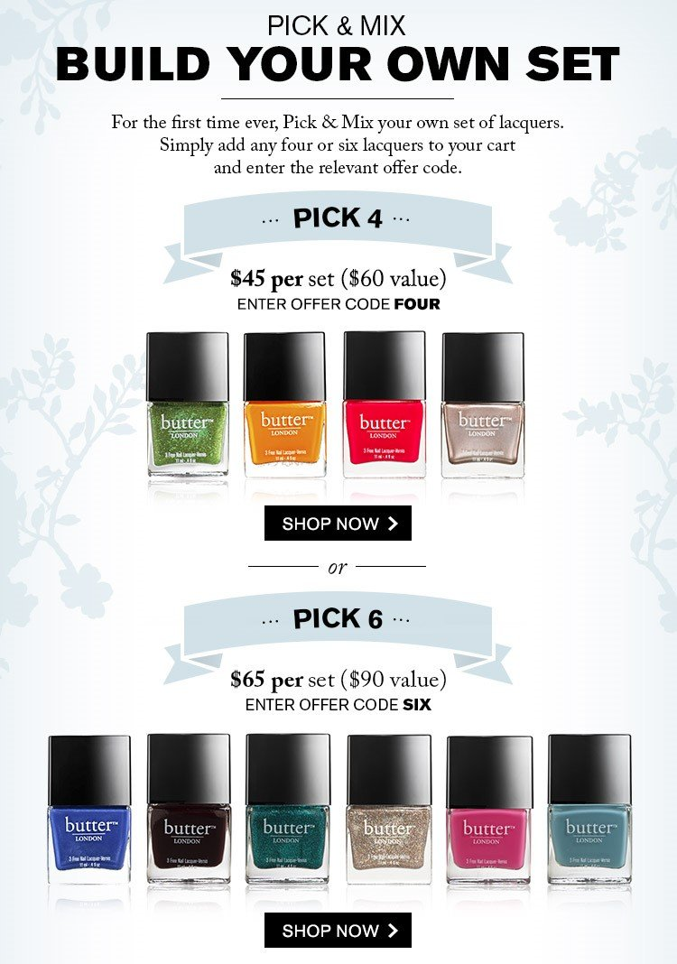Pick & Mix your own set of Nail Lacquers