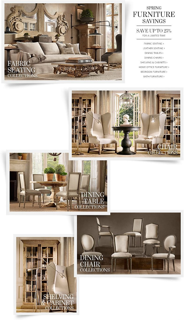 Spring Furniture Savings - Save Up to 25% For a Limited Time.