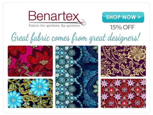 15% off Benartex Cotton Prints