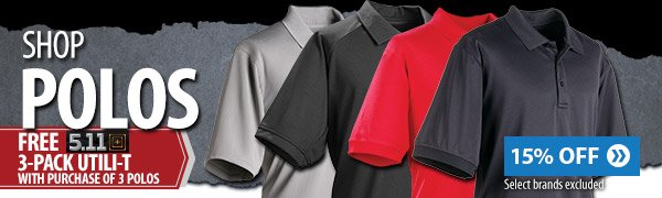 Shop polos free 5.11 3-pack utili-t with purchase of 3 5.11 polos
