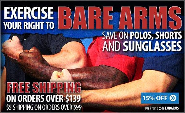 Savings on polos, shorts and sunglasses!