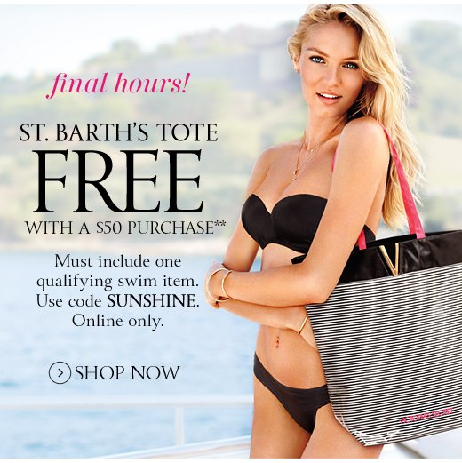 Final Hours! St. Barth's Tote Free With A $50 Purchase