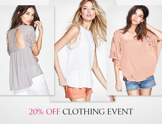 20% Off Clothing Event