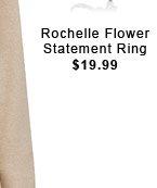 Rochelle Flower Statement Ring