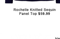 Rochelle Knitted Sequin Panel Top