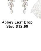 Abbey Leaf Drop Stud